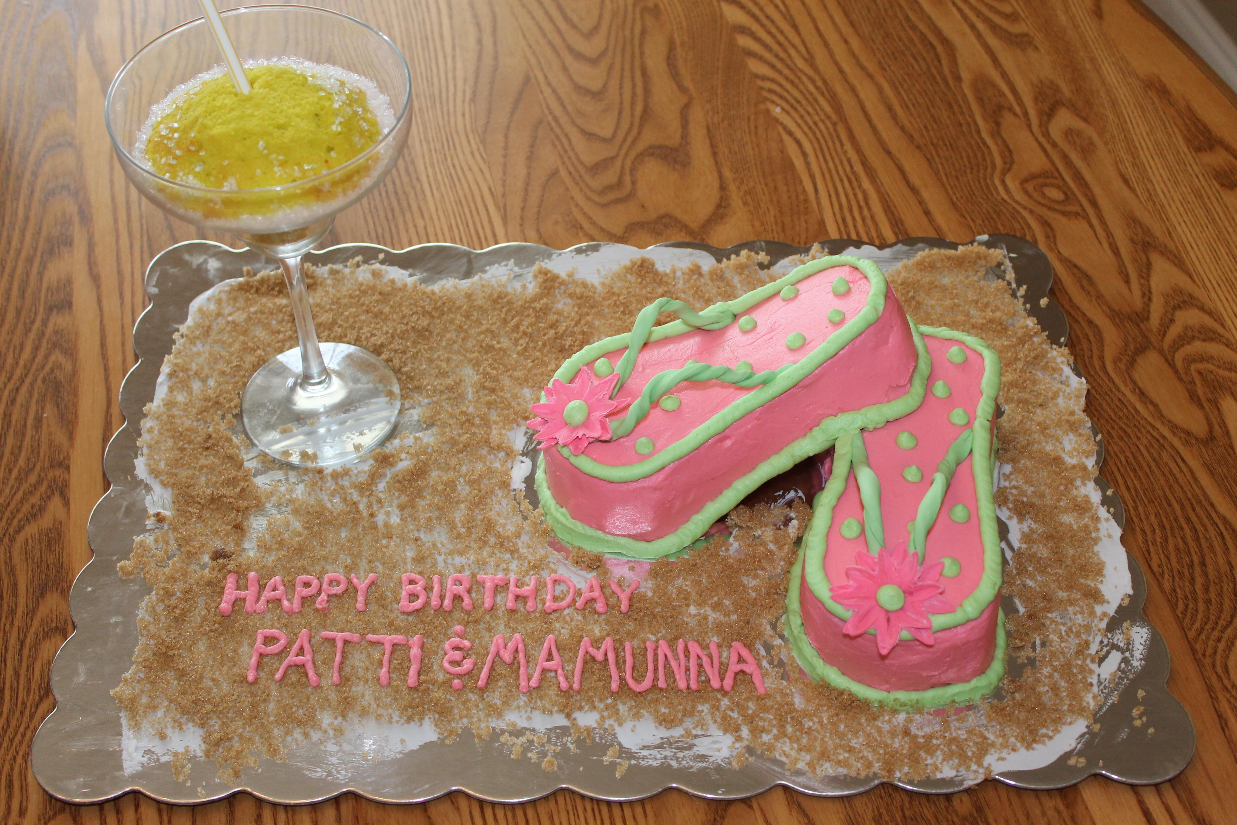 Miraculous Flip Flop Cake Pixie Cakes Birthday Cards Printable Inklcafe Filternl